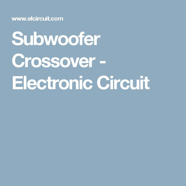 13 best Subwoofer images on Pinterest | Music speakers, Speakers and ...