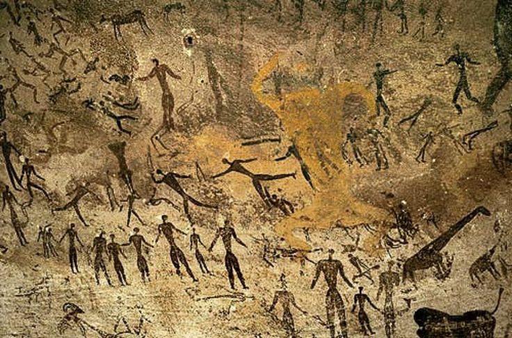 Las cuevas de Altamira y Nerja albergan las primeras pinturas de la Humanidad (neandertales, hace unos 40.000 años). . Las pinturas rupestres , se convierten en un llamado, en una manifestación de la búsqueda de una conexión con algo superior. La necesidad de supervivencia del grupo, da lugar a una estructura social que se sostiene en el respeto y la cooperación.