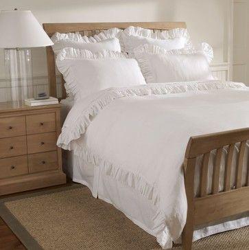 anna tattered ruffle duvet white traditional duvet covers