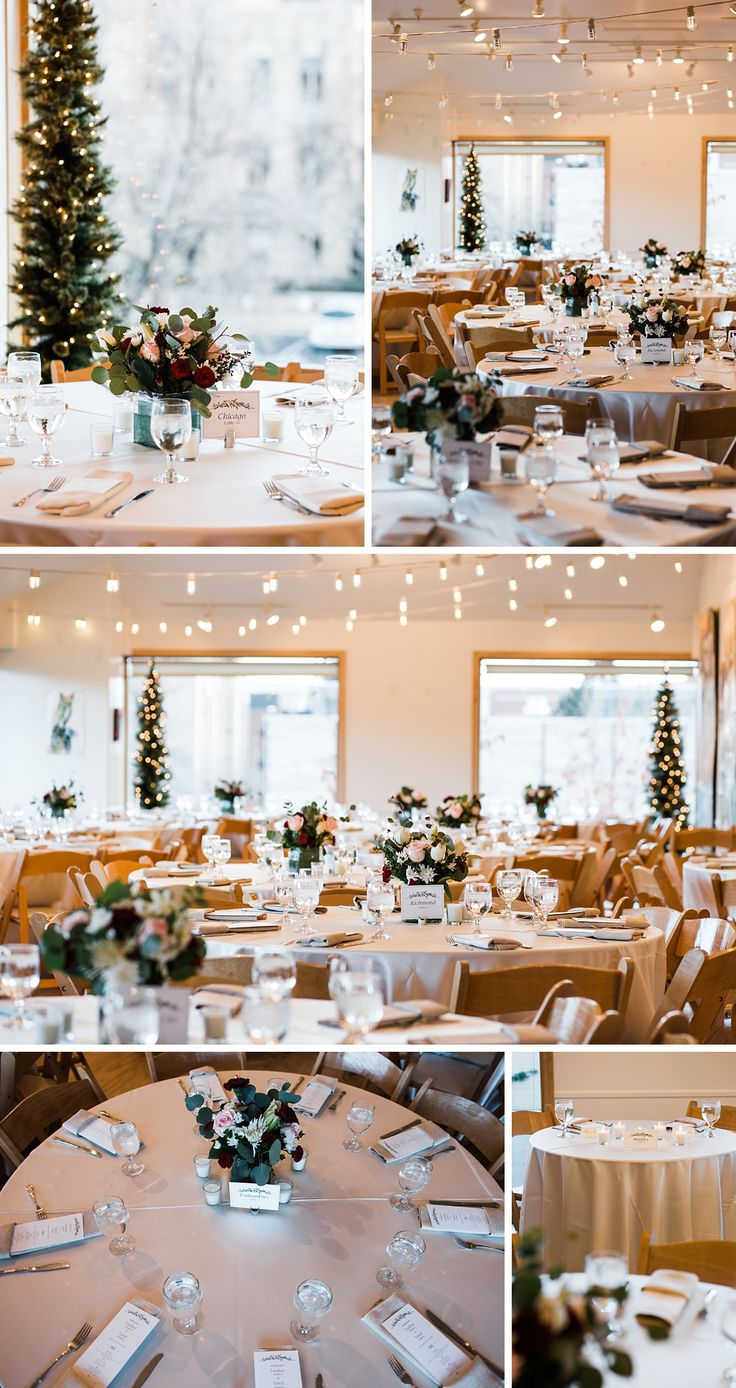 affordable wedding reception venues minnesota%0A Rembrandt Yard art gallery wedding venue with string lights natural light  and evergreen trees