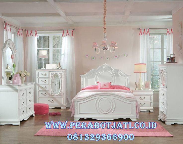 Jual Set Kamar Tidur Anak Perempuan Putih Klasik | Desain Kamar Tidur Anak Perempuan Klasik
