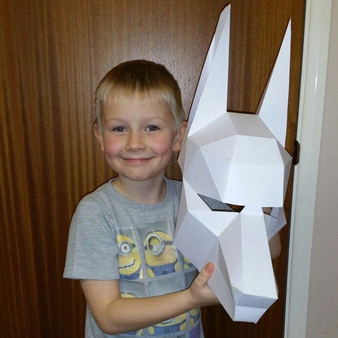 8 year old Marlow from the UK made the Anubis mask for a school project! That boy has a knack for papercraft! Amazing result! Thank you for the picture!