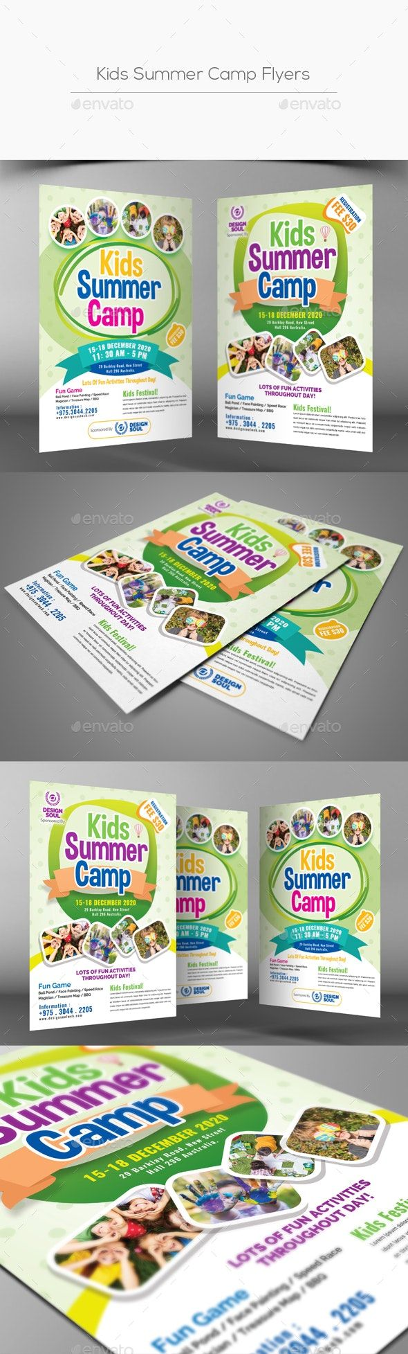 Kids Summer Camp Flyer Templates