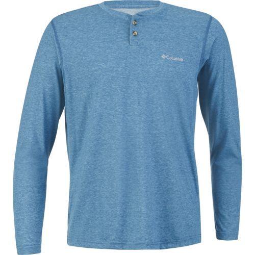 Columbia Sportswear Men's Thistletown Park Henley (Blue/Grey, Size Medium) - Men's Outdoor Apparel, Men's Longsleeve Outdoor Tops at Academy Sports