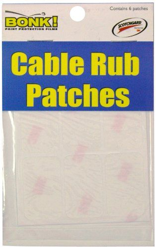Bonk Cable Rub Patches (6 - 1/2-Inchx 1-Inch)