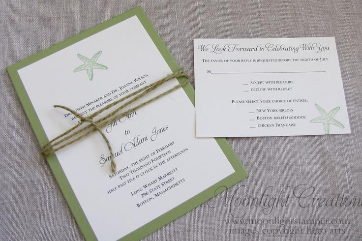 Starfish Wedding Invitations Beach Wedding By