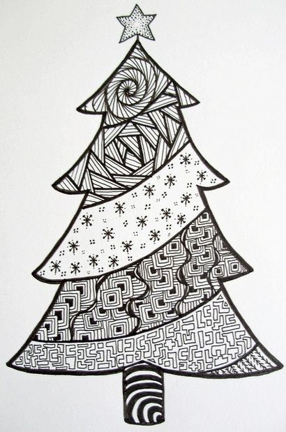 Zen Christmas Tree by Zoe Ford-Kate made something like this in her art class-cool!