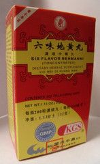 Liu Wei Di Huang Wan - Six Flavor Rehmannia | Best Chinese Medicines. One of the most important formulas in Chinese Medicine, used to nourish the energies of the Kidney Yin and Liver Yin. Often used in menopause, fatigue, menstrual irregularities, and insomnia.  Kidney and Liver Yin deficiency have many of the following:  Lower back pain or weakness  Tinnitus   Dizziness or vertigo  Nocturnal emission  Frequent urination Flushed face/cheeks  Night sweats   Blurry vision