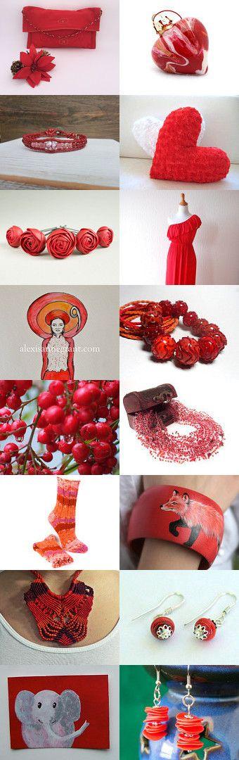 Red Thursday... by Türkan Gençalp on Etsy--Pinned with TreasuryPin.com