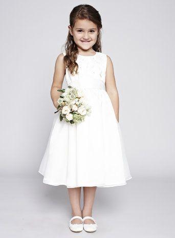 Isabelle Ivory Flower Girl Dress