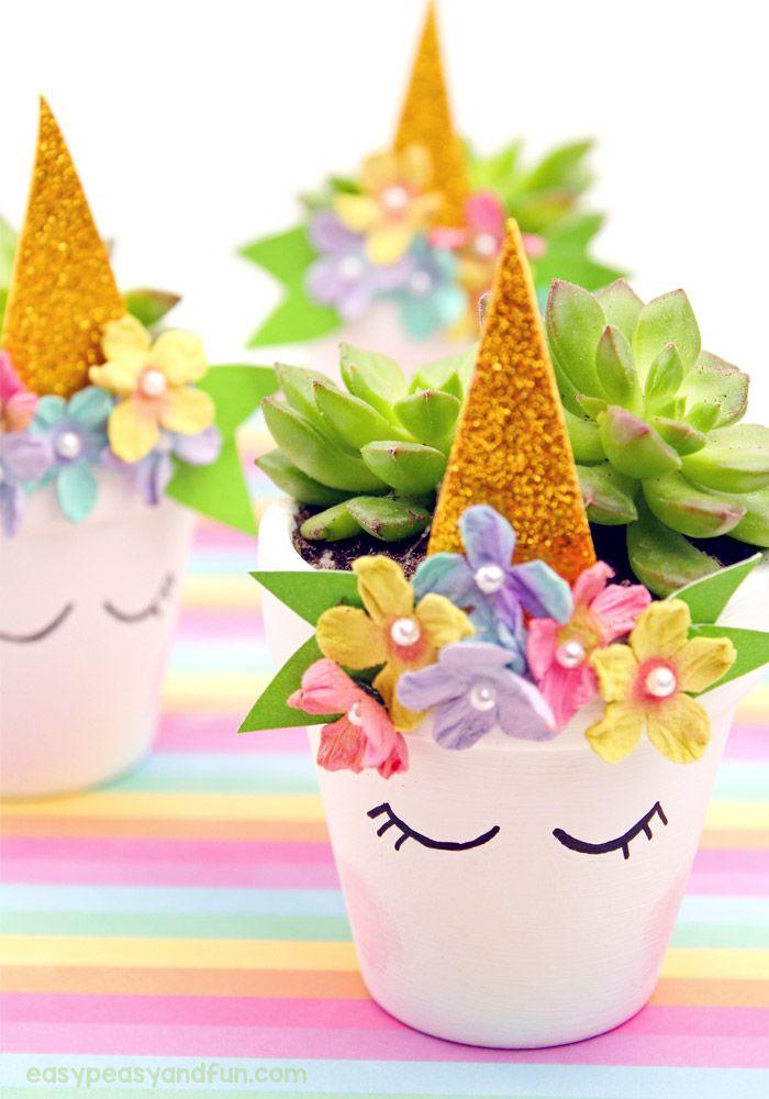 Unicorn Planter – Magical DIY Succulent Plant Pot Thought