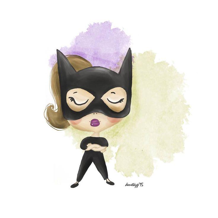 Monday Power. #cat #catwoman #girl #power #illustration #drawing #children #childrenbook #art #cartoon #digitalpainting