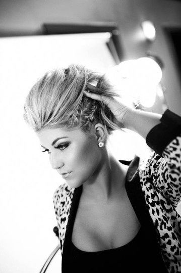 braid faux hawk. Love! So doing this the next time we go out.....which is like once a year....