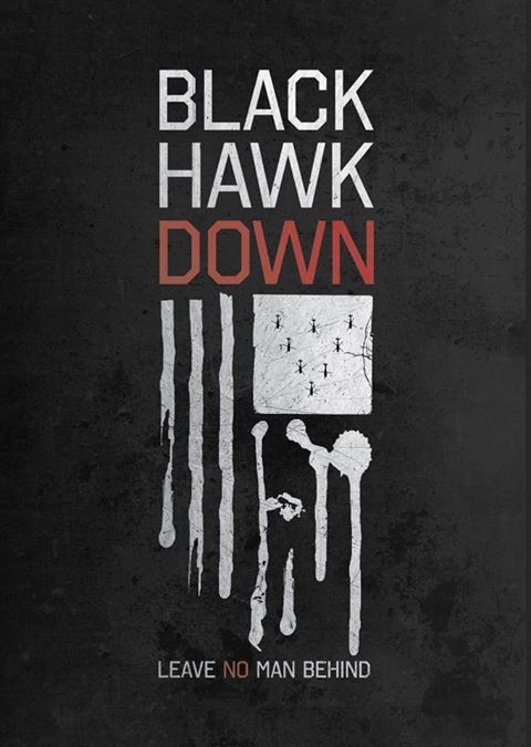 Black Hawk Down (2001) ~ Minimal Movie Poster by Barry McGovern