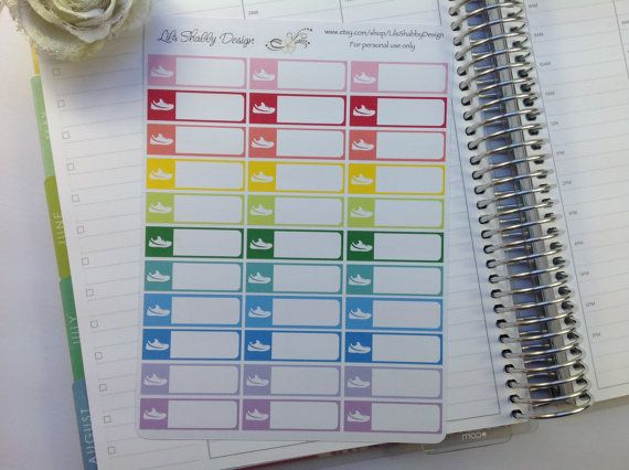 Running Labels  Running Planner Stickers  by LilsShabbyDesign