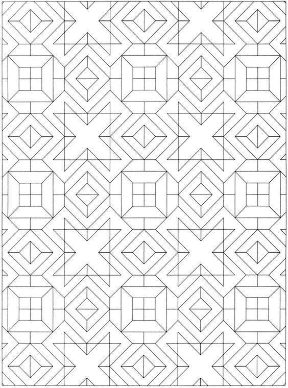 Welcome To Dover Publications Creative Haven Geometric Allover Patterns Coloring Book