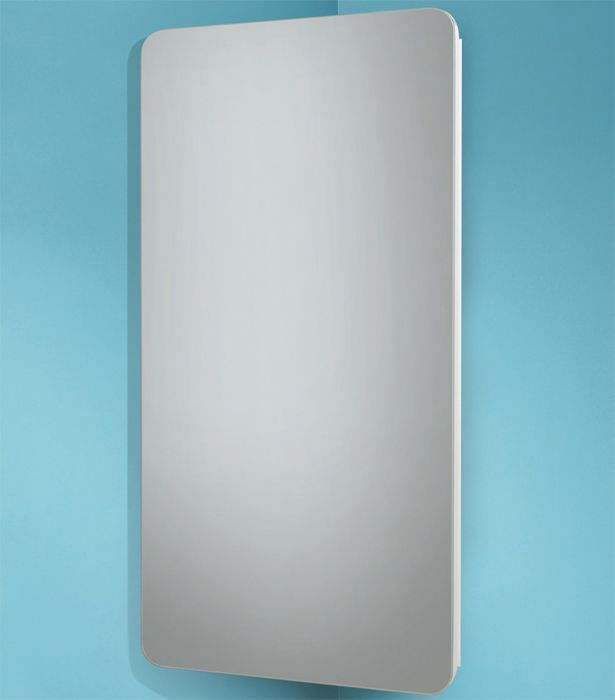 Image of HIB Turin Corner Mirrored Cabinet 300 x 600mm