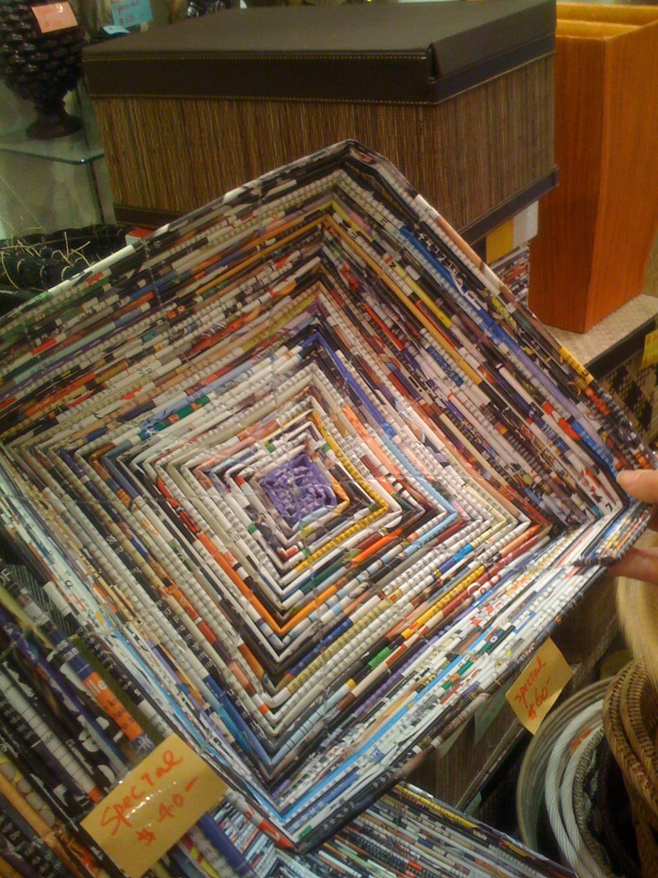 Image detail for -Fidgety Fingers: RECYCLED MAGAZINE CRAFT SPOTTED IN HONG KONG