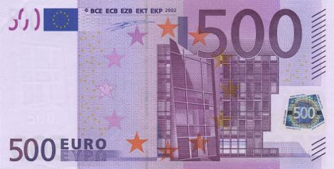 Image result for 500 euro note
