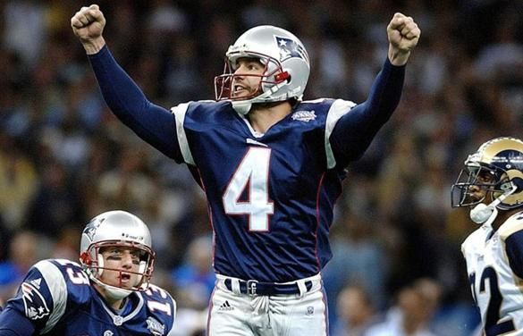 Adam Vinatieri's 48-yard field goal as time expired clinched a 20-17 defeat of the Rams for the Patriots in Super Bowl XXXVI at the Louisiana Superdome.