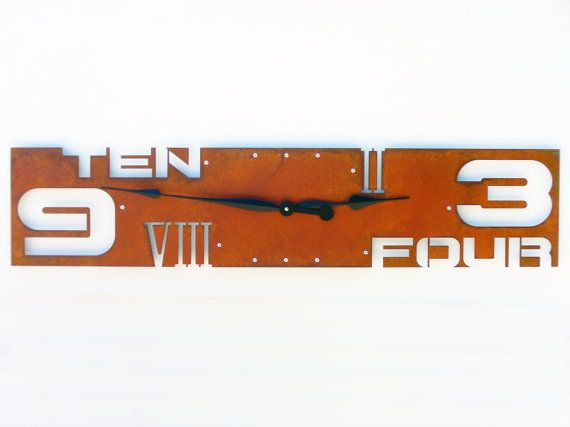 hang above kitchen sink area outnumbered iv extra large wall clock rusted wall by