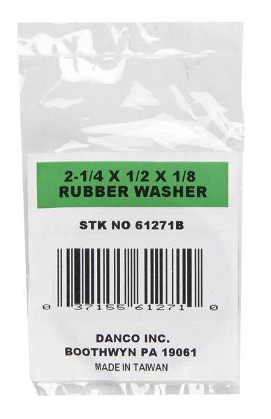 """Danco 61271B Flat Washer, Rubber, 2-1/4"""" x 1/2"""" x 1/8"""""""