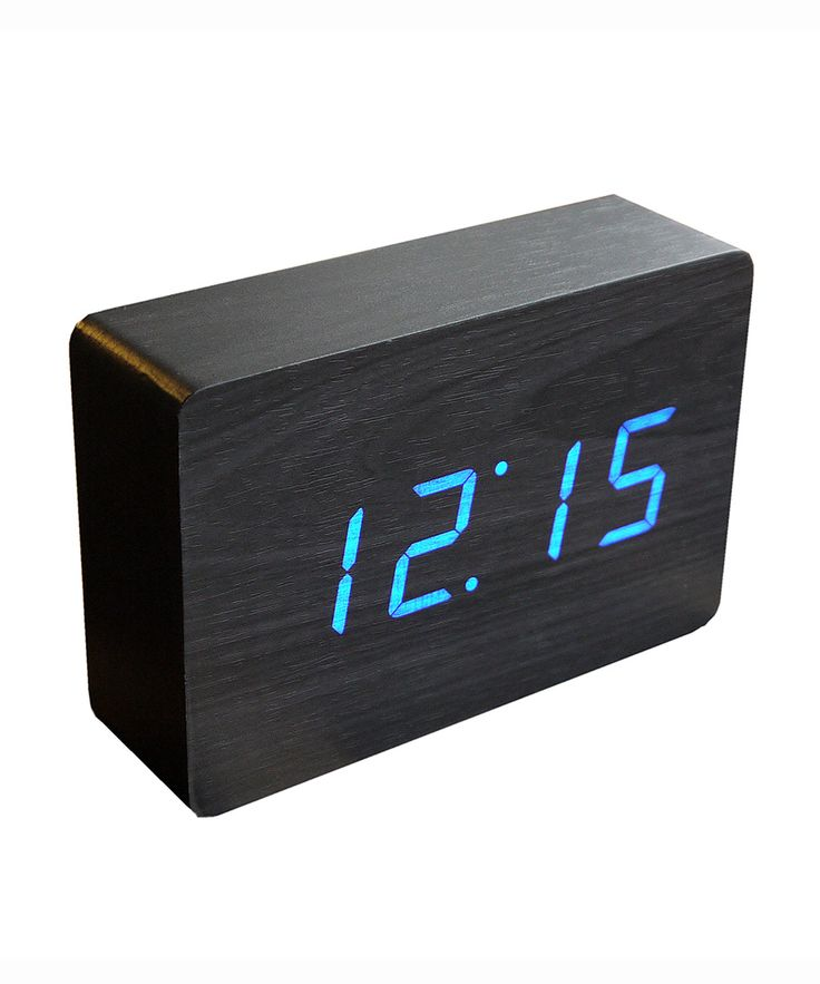 You and time are close friends—but you don't need to be joined by the hands all the time. These pitch black alarm clocks only show the time when you tap the top or snap your fingers. Otherwise they ser... Find the Pitch Black Alarm Clock, as seen in the Table Clocks Collection at http://dotandbo.com/category/decor-and-pillows/clocks/table-clocks?utm_source=pinterest&utm_medium=organic&db_sku=GIN0003