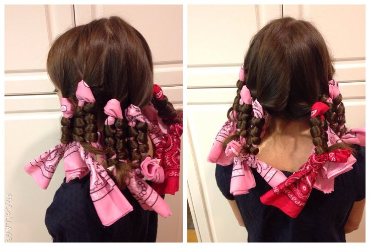 No Heat Bandana Curls