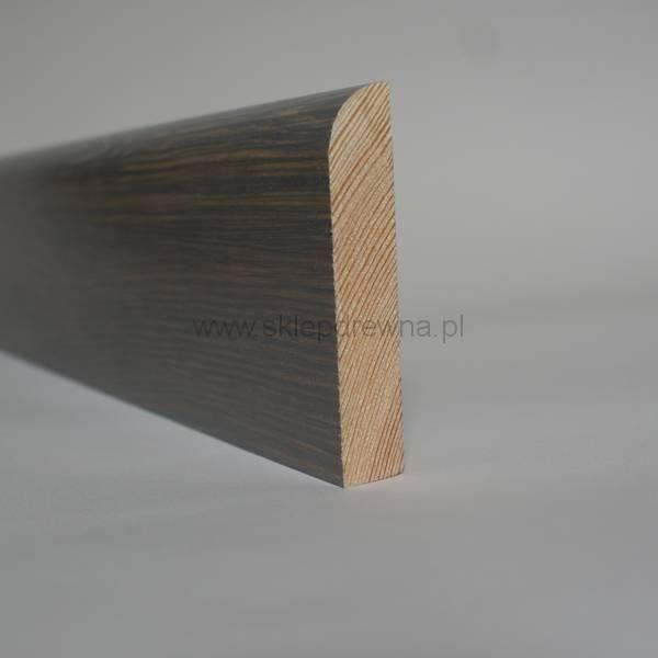 Szara listwa wykończeniowa z litego drewna, o wymiarach 1,8x9cm Sklep Drewna
