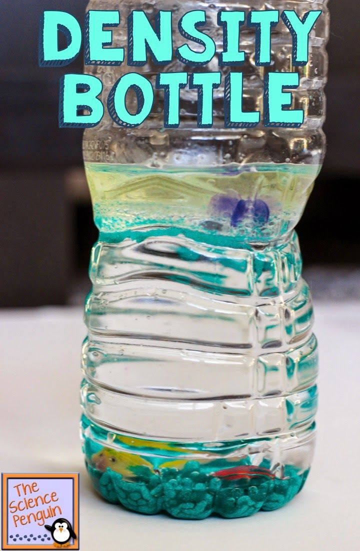 Density Bottles Activity--Fun activity for students to learn about relative density!