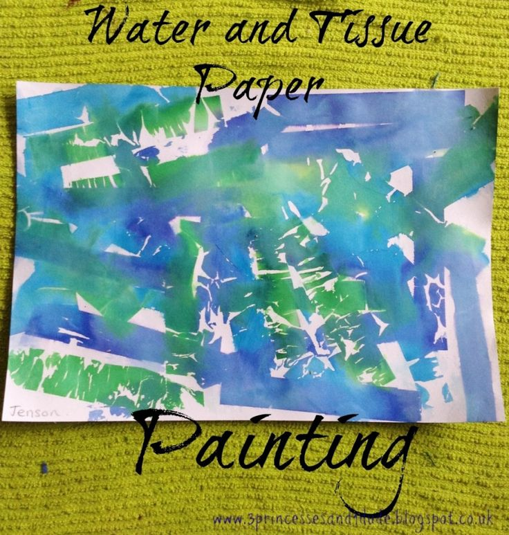 Easy art idea for toddlers and preschoolers.