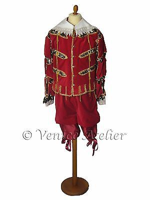 Venice Carnival Costume Masquerade Fancy Dress Outfit Handmade Man 1500