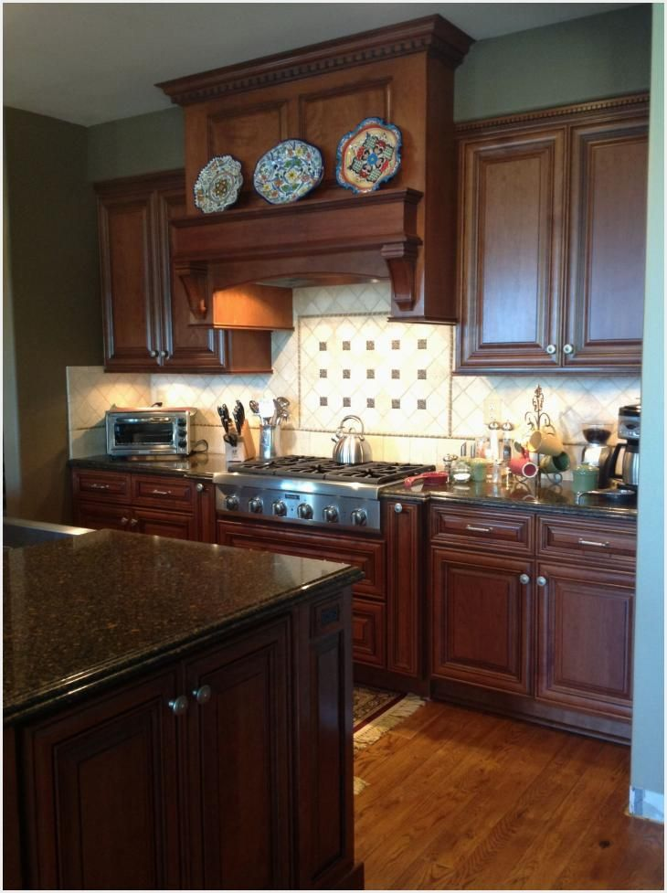 Cherry cabinets Cambria Nottingham counter tops Thermadore ...