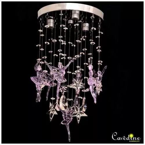 Lustre De Cristal Bailarina - R$ 250,00                                                                                                                                                                                 Mais