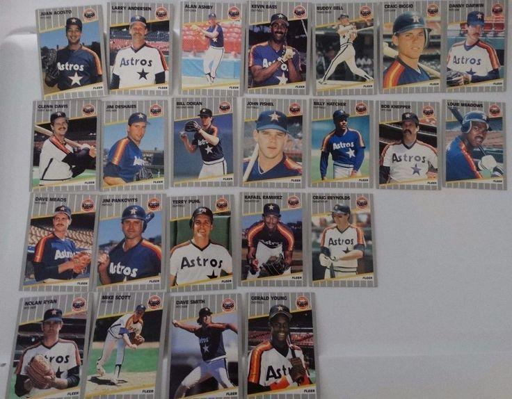 1989 Fleer Houston Astros Team Set of 23 Baseball Cards #HoustonAstros