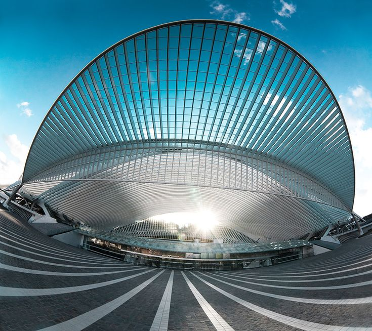 Liège-Guillemins Train Station, another one of those buildings that rapidly lose their whiteness.