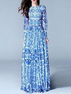 Long Sleeve Maxi Dress Online Store - fashionmia.com