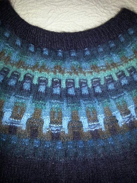 Ravelry: candyaj123's The Ultimate Sweater - Bohus Forest Darkness