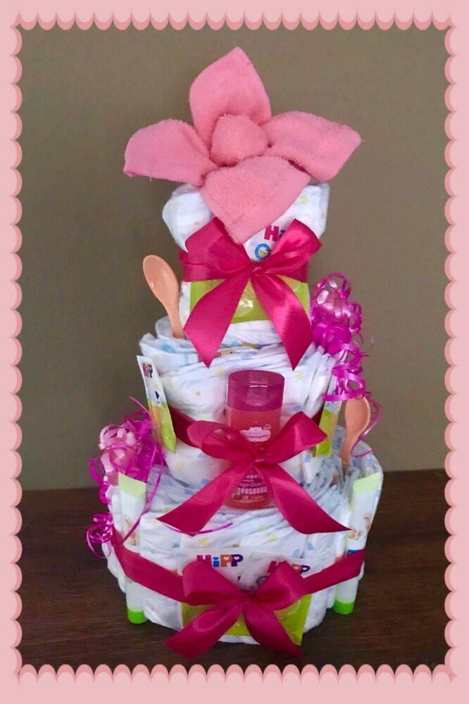 Boy❤️super Geschenk zur Geburt Windeltorte ❤️Baby Girl o Babyparty Taufe o