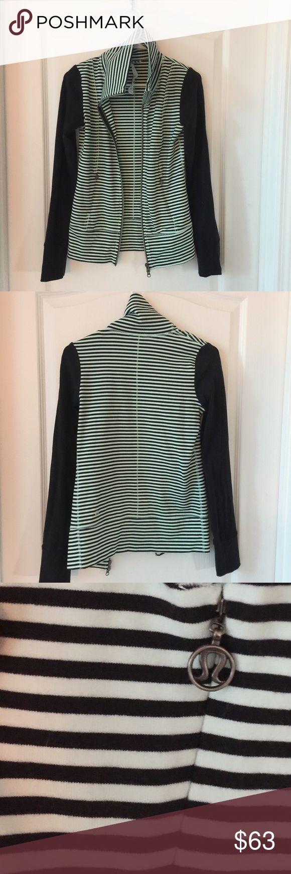 Lululemon Zip Up EUC. Lululemon striped zip up. Size 2. lululemon athletica Jackets & Coats