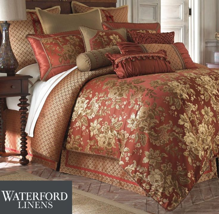 Waterford Linen Mackenna Queen Comforter Shams Bedskirt 4p