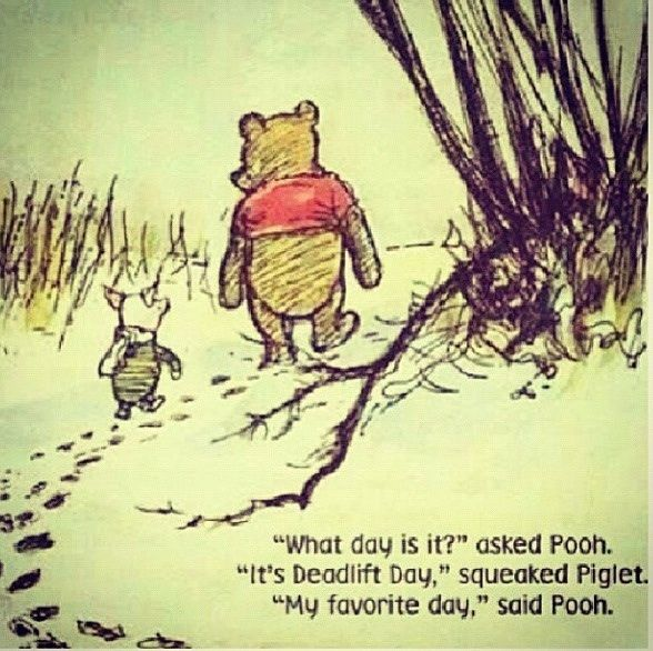 My favorite day, too! Deadlift Day.