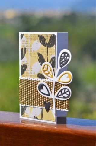 We love this gorgeous golden card, created with the woodland leaves from Craft Asylum and Sizzix.