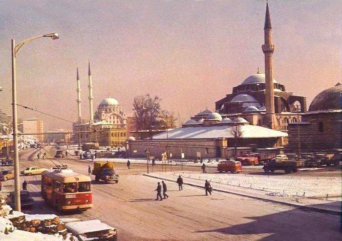 Tophane 'de kış 1970 ler /İstanbul