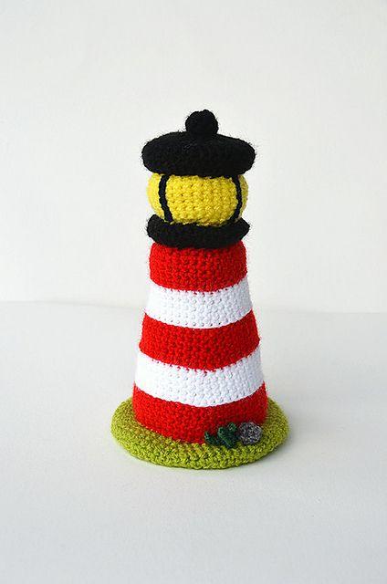 Lighthouse - Nautical Sea Theme - Amigurumi Toy - CROCHET PATTERN No.130 by Joyce Overheul