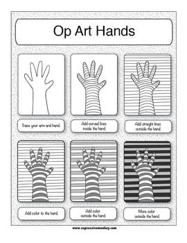 Printables Op Art Worksheet 1000 images about art lesson ideas op on pinterest maze and the elements of expressive monkey teacherspayteachers com