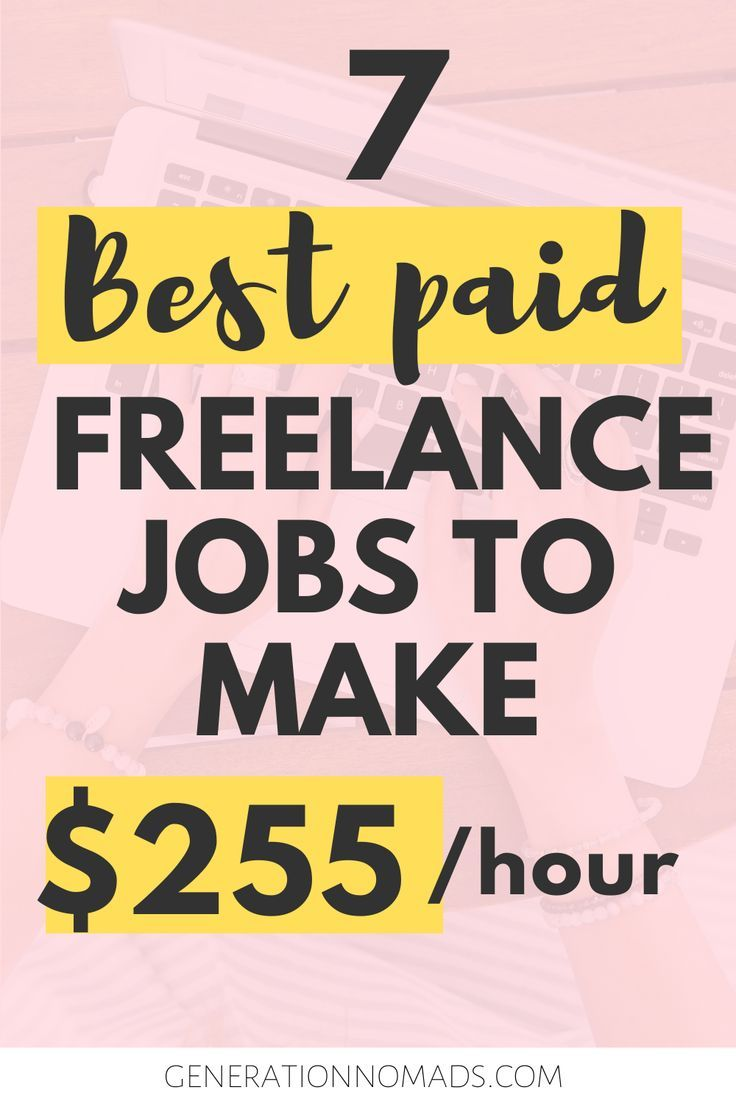 7 Highest Paying Jobs For Freelancers Freelance Jobs That Make More Money With Up To 255 Hr