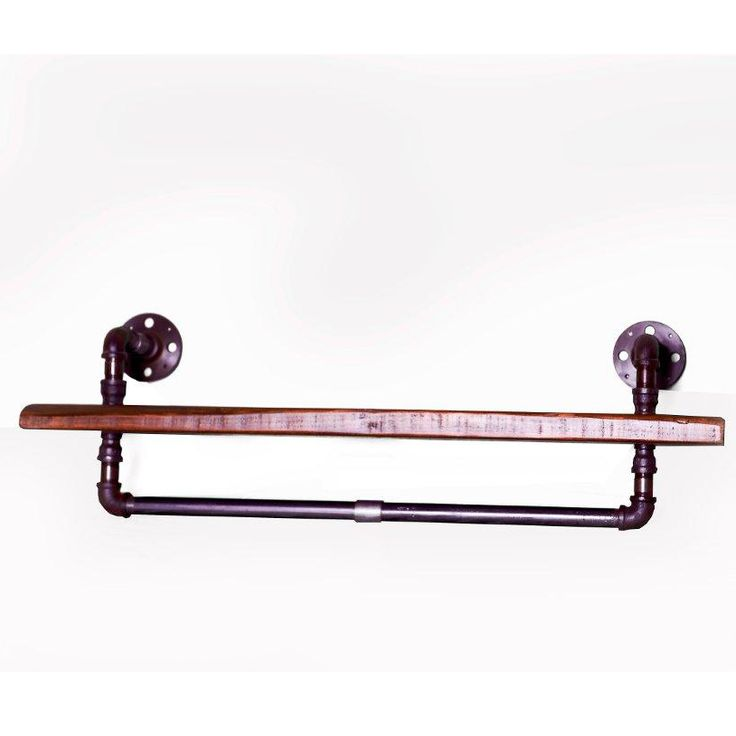 Industrial Steam Punk Shelf with rail detail