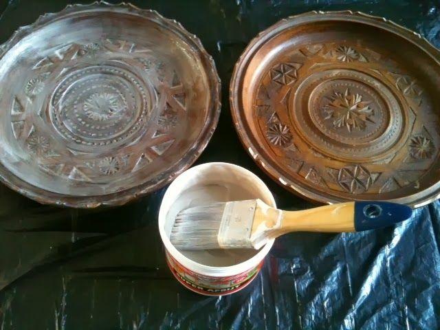 WONEN a la Mar: ♥ Houten borden met paste wax