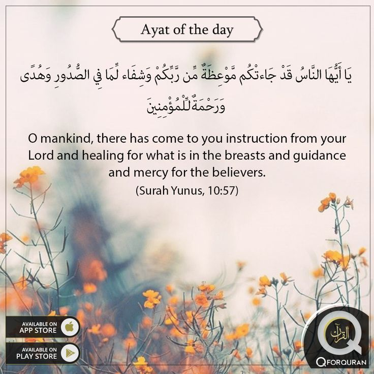 **AYAT OF THE DAY** O mankind, there has come to you instruction from your Lord and healing for what is in the breasts and guidance and mercy for the believers. (Surah Yunus, 10:57) #AyatOfTheDay #Quran #QforQuran
